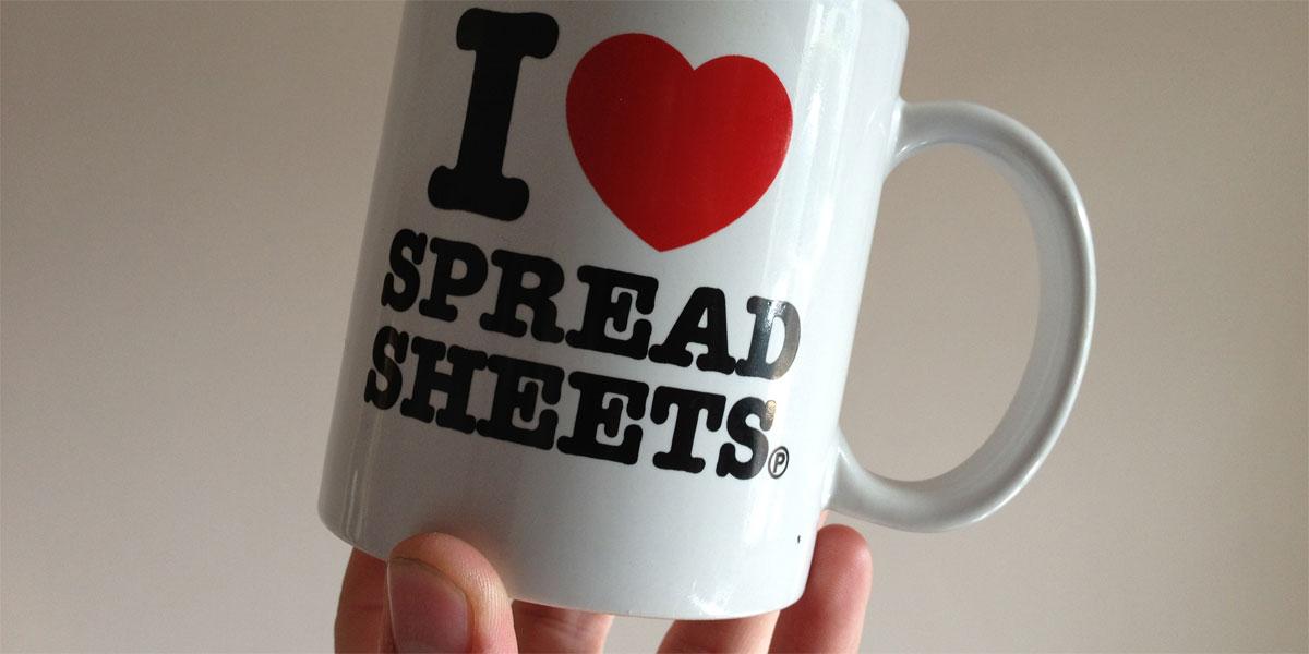 I Love Spreadsheets - © craigmoulding (cc licensed) http://www.flickr.com/photos/craigmoulding/8399214678/