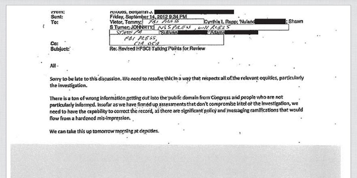 White House Benghazi e-mail Redaction Example