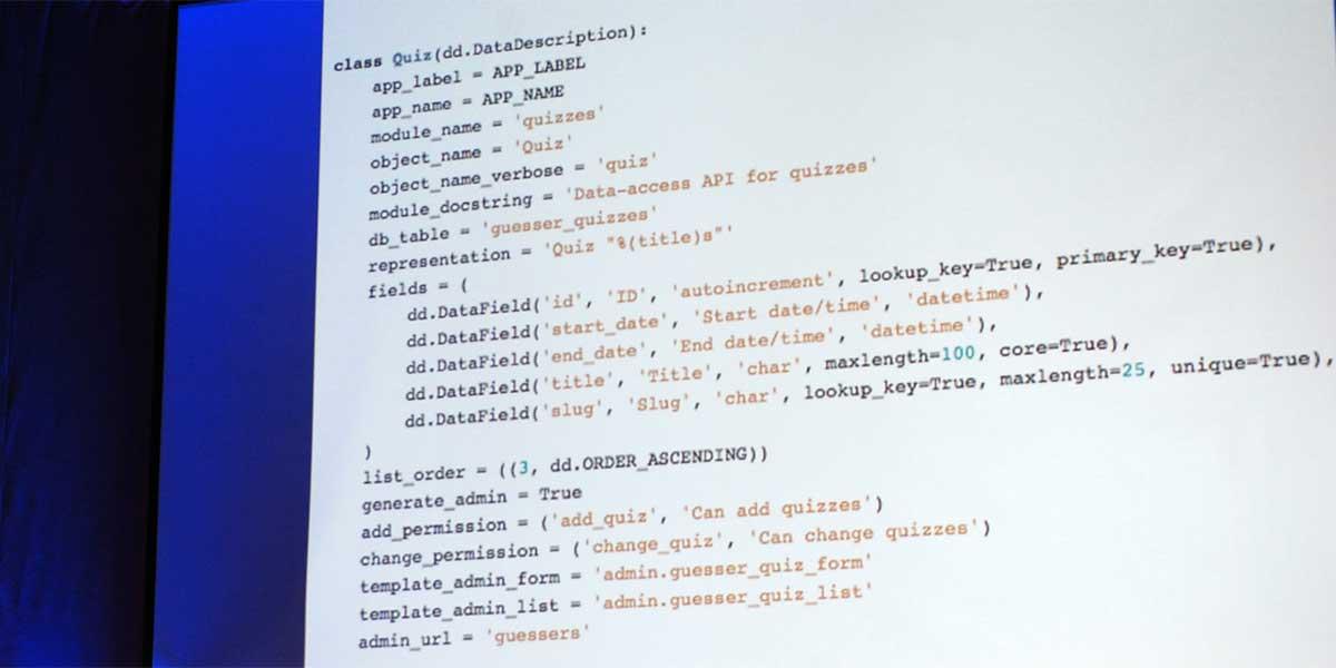Django Code image courtesy of yashh (https://secure.flickr.com/photos/yashh/2834428182)